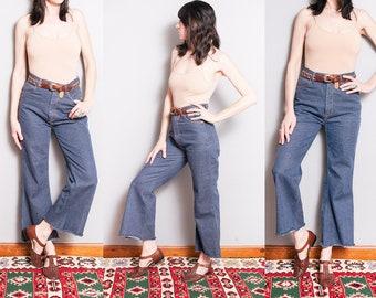 Vintage 1970's | High Rise | Flared | 5 Pocket | Medium Wash | Denim | Jeans | M