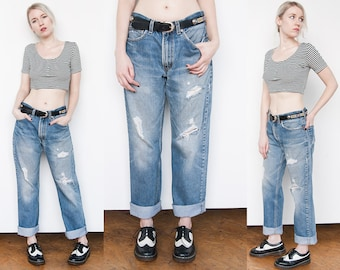 Vintage 1990's | Faded | Distressed | 505 | Regular Fit | Levi's | 31 x 32
