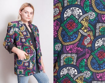 Vintage 1980's/1990's | Evan-Picone | OS | Printed | Patterned | Blazer | Jacket | M/L or OS