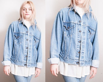 Vintage 1980's | GAP | Oversized | Faded | Distressed | Denim | Jean | Jacket | OS or M/L