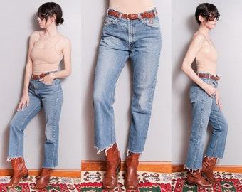 Vintage 1980's/1990's | 517 LEVI'S | 5 Pocket | Orange Tab | Medium Wash | High Rise | Denim | Jeans | M