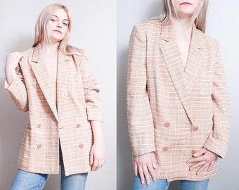Vintage 1980's | CHRISTIAN DIOR | Double Breasted | Lightweight | Long | Blazer | Jacket | OS or M/L