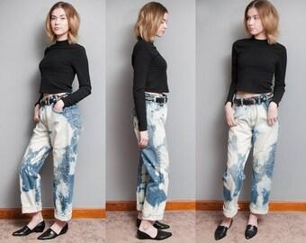 Vintage 1980's | 505 | Orange Tab | Bleached | Boyfriend | Jeans | 35x31