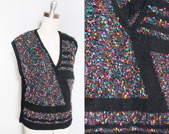 Vintage 1980's | OS | Pullover | Sweater | New Wave | Vest | SML