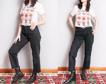 Vintage 1990's | Black | Calvin Klein | Button Fly | 5 Pocket | High Rise | Denim | Jeans | M