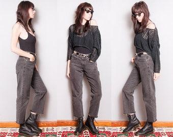 Vintage 1990's | Faded | Black | LEVI'S 550 | 5 Pocket | Boyfriend | Denim | Jeans | M