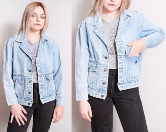 Vintage 80's/90's | Calvin Klein | Light Wash | Denim | Jean | Jacket |  XS/S