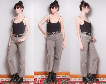 Vintage 1990's | Gray | Calvin Klein | High Rise | Slim Fit | Denim | Jeans | S