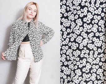Vintage 1990's | ANNE KLEIN | Floral | Button Down | Blouse | Top | S/M
