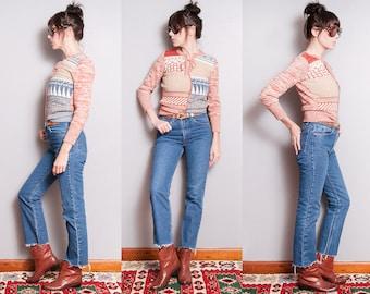 Vintage 1970's/1980's | 517 LEVI'S | 5 Pocket | Orange Tab | Medium Wash | High Rise | Slim Fit | Denim | Jeans | S