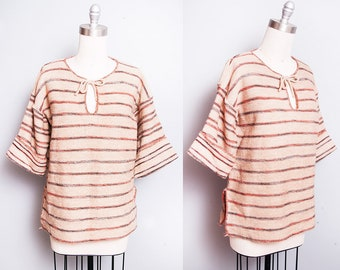 Vintage 1970's | Striped | Bell Sleeve | Pullover | Sweater | M/L