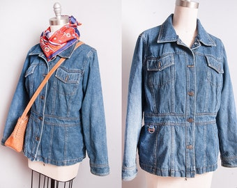 Vintage 1990's | Denim | Choir | Medium Wash | Jean | Jacket | S/M