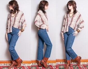 Vintage | 1980's | Wrangler | 5 Pocket | Western | Dark Wash | High Rise | Denim | Jeans | S/M