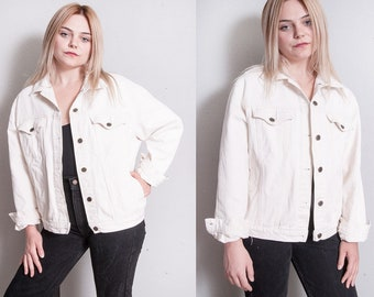 Vintage 1990's | GAP | Winter White | Oversized | Denim | Jean | Jacket |  OS or SML