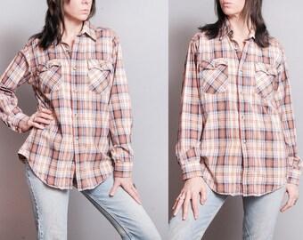 Vintage | LEVI'S | Plaid | Unisex | Cotton | Flannel | Menswear | Button Down | Top | SML