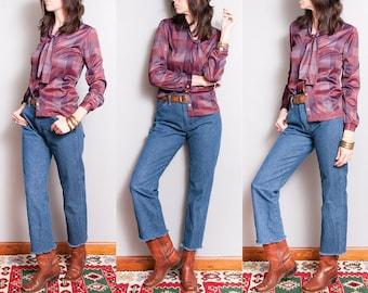 Vintage | 1980's | Wrangler | 5 Pocket | Western | Dark Wash | High Rise | Denim | Jeans | M