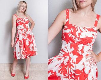 Vintage 1990's | R&K Originals | Cotton | Empire Waist | Dress | M