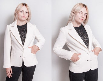 Vintage 1960's | LILLI ANN | Winter White | MOD | Fitted | Blazer | Jacket | S