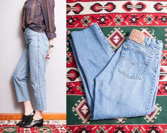 Vintage 1980's/1990's | LEVI'S 550 | 5 Pocket | Light Wash | High Waist | Denim | Jeans | S