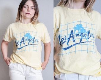 Vintage 1980's   Yellow   Los Angeles   Travel T-Shirt   T-Shirt   Unisex   M