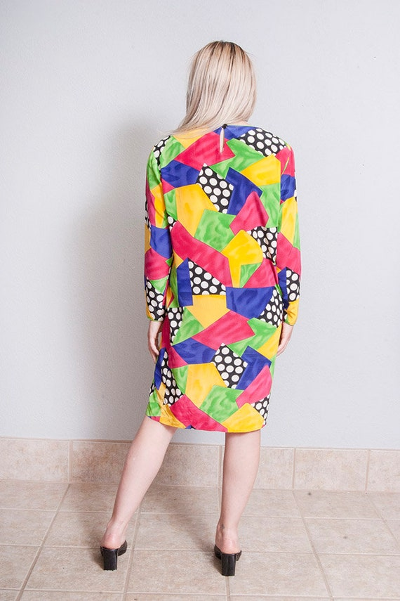 Vintage 1980's/1990's | Colorful | 100% Silk | Ab… - image 4