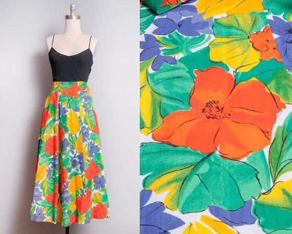 Vintage 1980's   JAEGER   Bright & Colorful   Flor