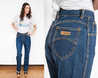 Vintage 1980's | Gitano | Dark Wash | High Waist | Denim | Jeans | S