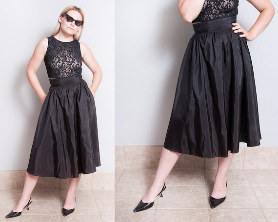 Vintage 1970's | Black | GUNNE SAX | Full | Circle