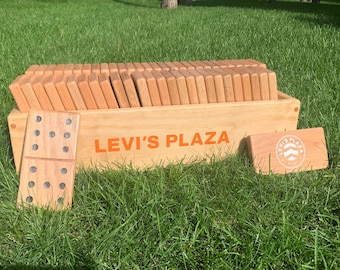 Customized 6x6 or 9x9 Giant Wood Dominoes Set