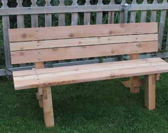 Cedar Outdoor Bench