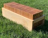 6x6 or 9x9 Giant Wood Dominoes Set