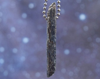 24 Gem Electric Blue Kyanite Stainless Steel Necklace