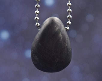 Protection # 856 Soldered Jewelry Greenland 4 billion Years old Unisex Crystal Healing Isua Pendant Warning: Powerful Ancient Stone