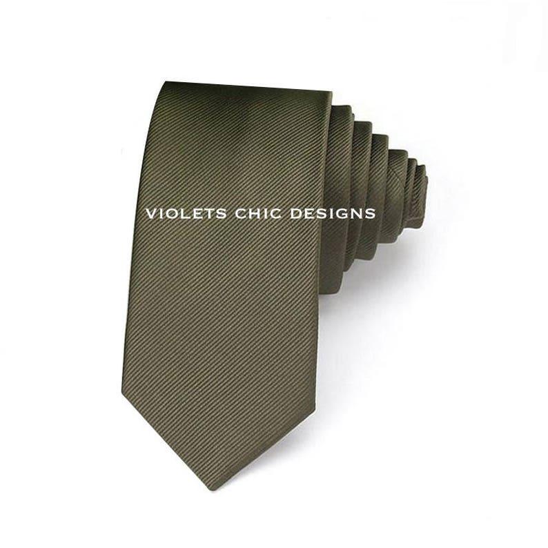 645818715faa Army green neck ties moss green neckties mens green necktie | Etsy