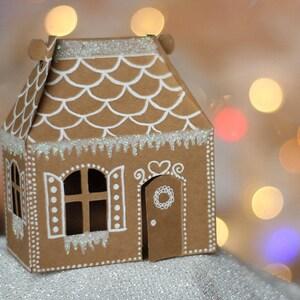 Svg File Mini Gingerbread House Gable Box Svg Cut File Etsy
