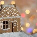 SVG File: Mini Gingerbread House Gable Box SVG Cut File