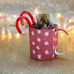 SVG File: 3D Paper Mug Gift Box / Treat Box / Christmas Party Favor SVG Cut File   Christmas SVG   Instant Digital Download