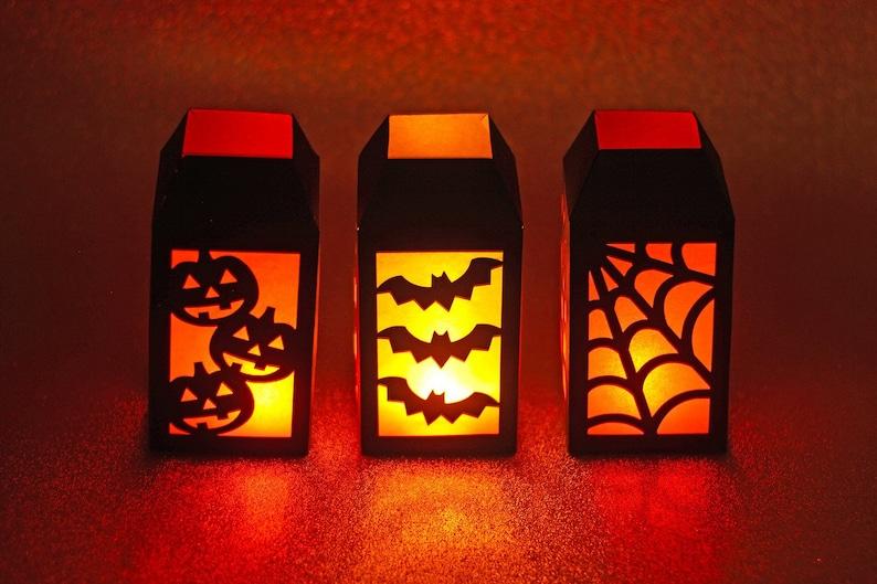 Mini 3D Halloween Lantern SVG Cut Files Set of 3 Files with image 0