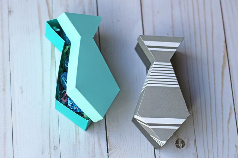 SVG File: 3D Tie Shaped Gift Box For Father's Day SVG Cut image 0