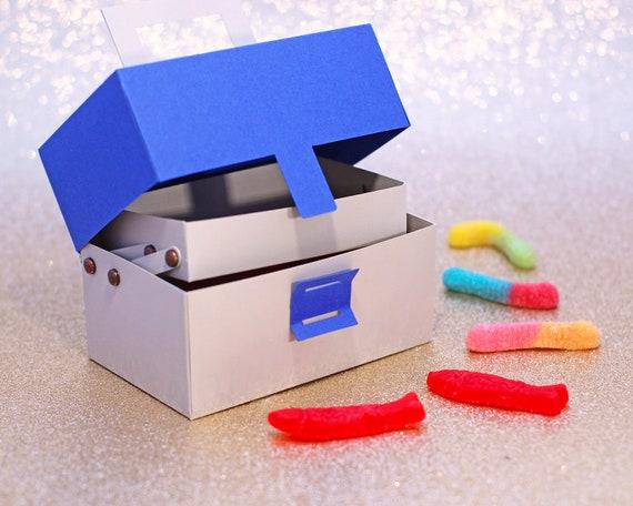 Download Svg File 3d Fishing Tackle Box Gift Box Treat Box Gift Etsy