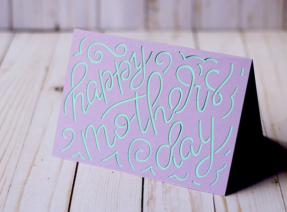 Free No physical product will be. Svg File Hand Lettered Cut Out Style Mother S Day Card Etsy SVG, PNG, EPS, DXF File