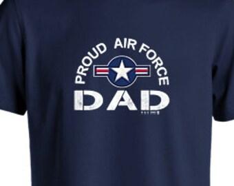 7605916e Proud Air Force Dad Men's T- Shirt
