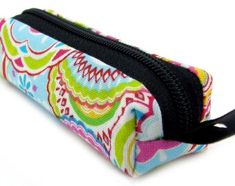 Lip Balm Holder, Mini Zipper Pouch with Clip, Lipstick Case, Memory Stick, Chapstick Holder, Small Pouch, Box Pouch, Colorful Bold