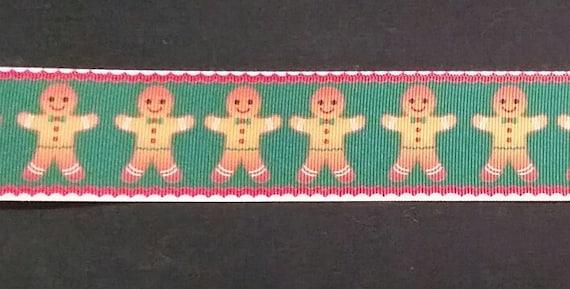 "christmas gingerbread grosgrain ribbon 1.5/"" 38mm per 1 m hair craft"