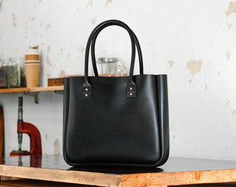 Leather Tote Bag, Large Black Tote Carry All, Weekend Bag, Australian, Duffel, Shopper, Nappy Bag, Baby Bag, Bowler, Doctor, Handbag, Day