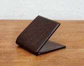 Kangaroo Leather Wallet Classic TALL - Black, Walnut Brown, Mocha, Chestnut, Red, Natural, Hand Stitched, Billfold Wallet, Leather Wallet
