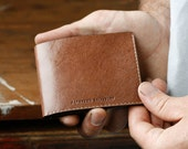 Kangaroo Leather Slim Wallet, Kangaroo Wallet, Light Brown, Billfold Wallet, Leather Wallet, Personalised, Card Holder, Australian