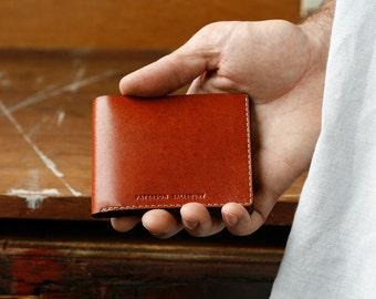 Kangaroo Leather Slim Wallet, Minimalist, Australian, Sustainable, Tan, Handmade, Billfold Wallet, Leather Wallet, Personalized, Card Holder
