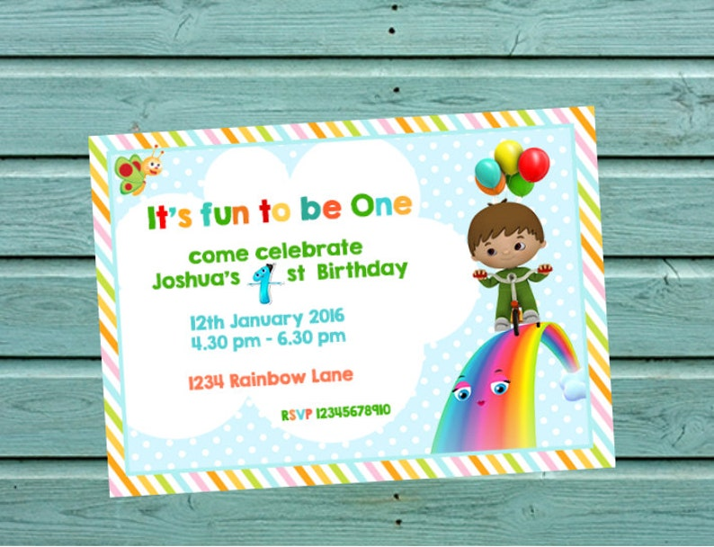 Baby Tv Charlie And The Numbers Invitation