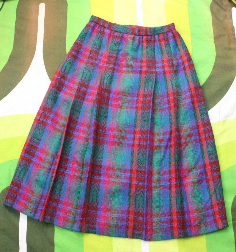 80/'s Wool Tartan Pleated Skirt
